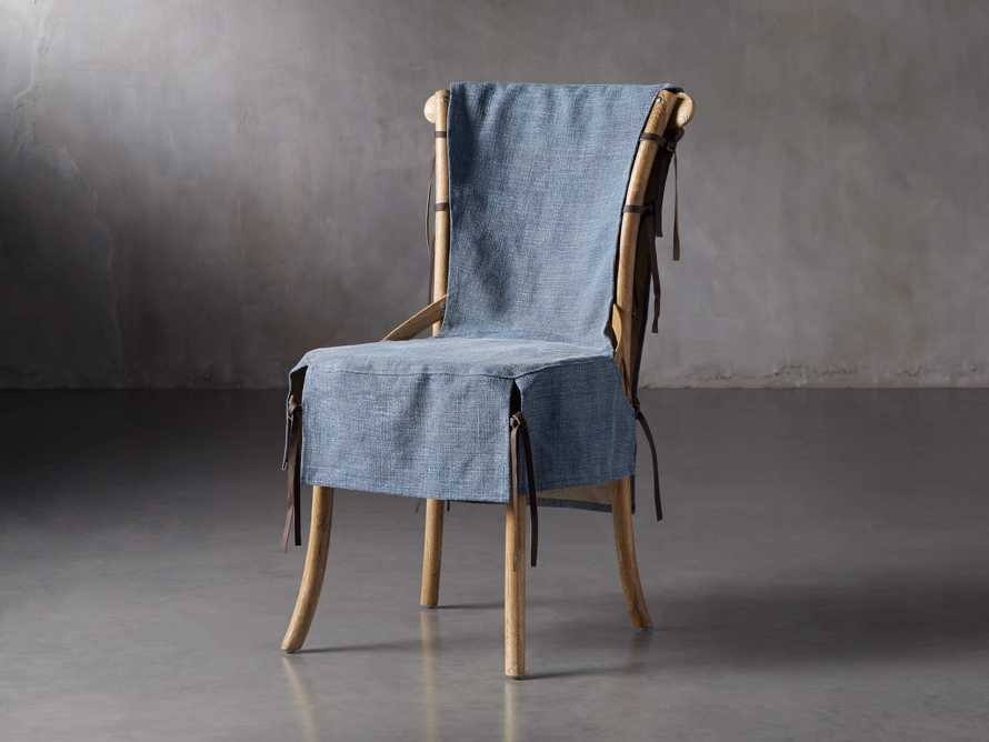 Cadence Dining Chair Slipcover in Indigo Linen, slide 2 of 9