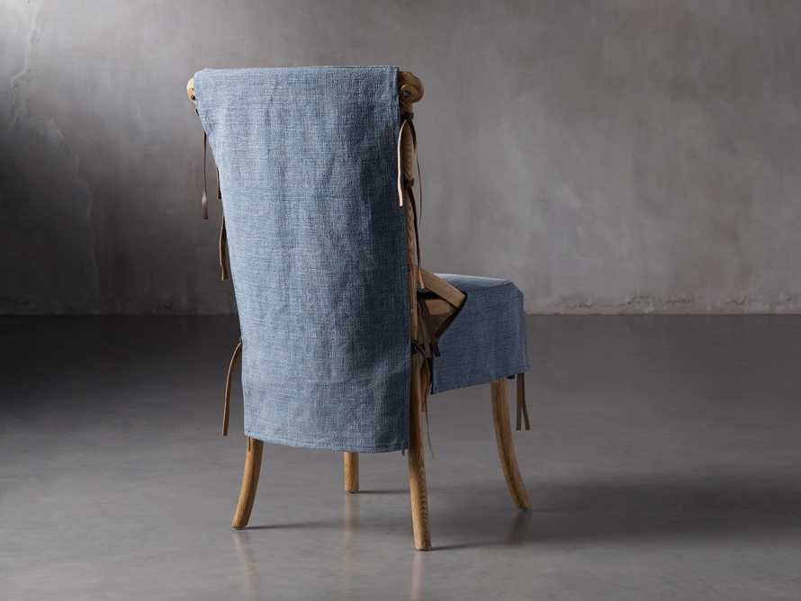 Cadence Dining Chair Slipcover in Indigo Linen, slide 4 of 9
