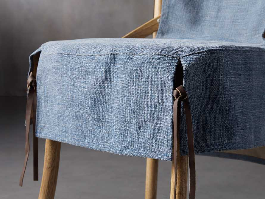 Cadence Dining Chair Slipcover in Indigo Linen, slide 6 of 9