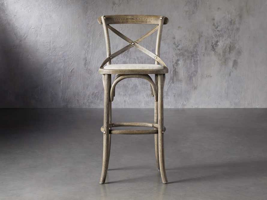 Cadence Barstool with Linen Seat in Stone Vintage, slide 1 of 6