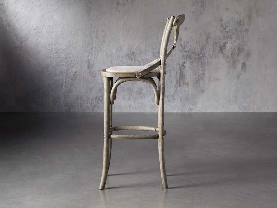 Cadence Barstool with Linen Seat in Stone Vintage, slide 3 of 6