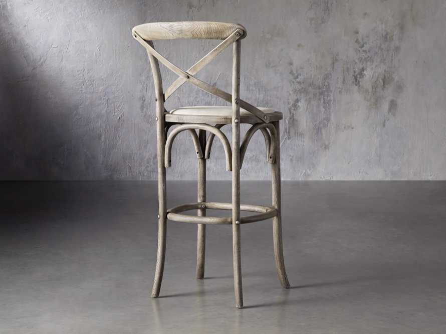 Cadence Barstool with Linen Seat in Stone Vintage, slide 4 of 6