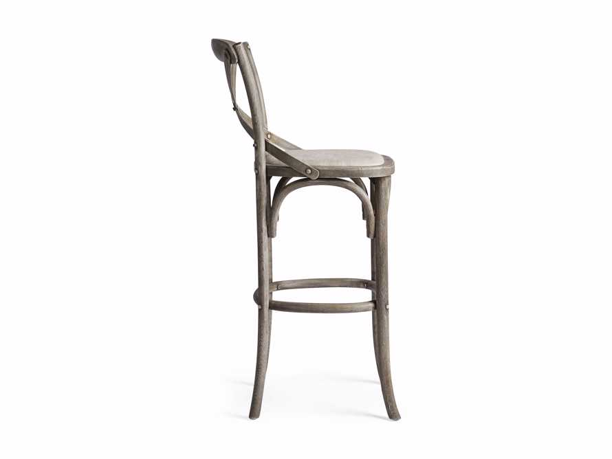 Cadence Barstool with Linen Seat in Stone Vintage, slide 6 of 6