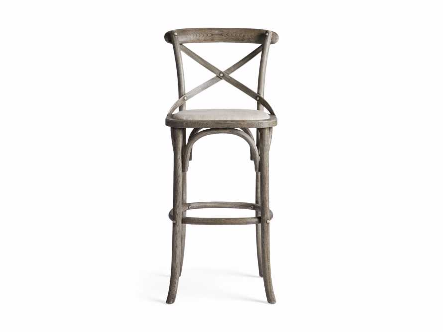 Cadence Barstool with Linen Seat in Stone Vintage, slide 5 of 6