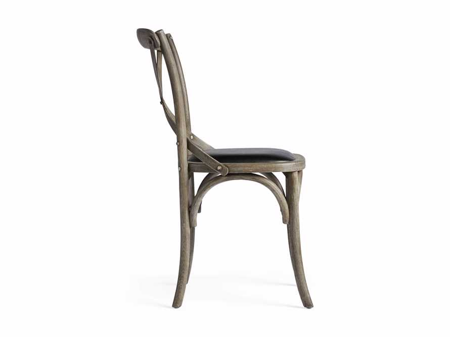 """Cadence 20"""" Dining Side Chair with Faux Black Leather Seat in Stone Vintage, slide 8 of 8"""