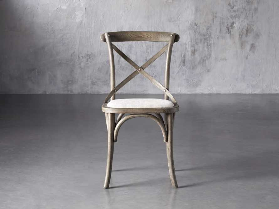 "Cadence 20"" Dining Side Chair with Linen Seat in Stone Vintage, slide 1 of 9"