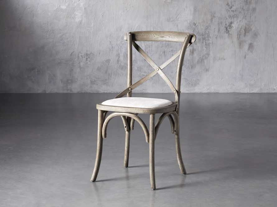 "Cadence 20"" Dining Side Chair with Linen Seat in Stone Vintage, slide 2 of 9"