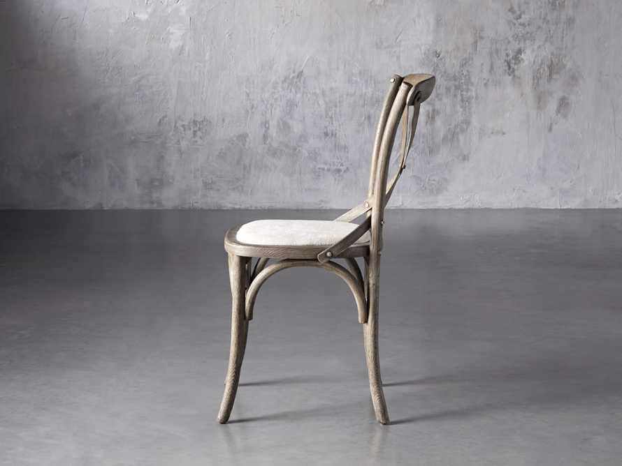 "Cadence 20"" Dining Side Chair with Linen Seat in Stone Vintage, slide 3 of 9"