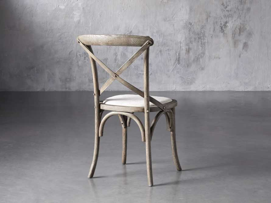 "Cadence 20"" Dining Side Chair with Linen Seat in Stone Vintage, slide 4 of 9"