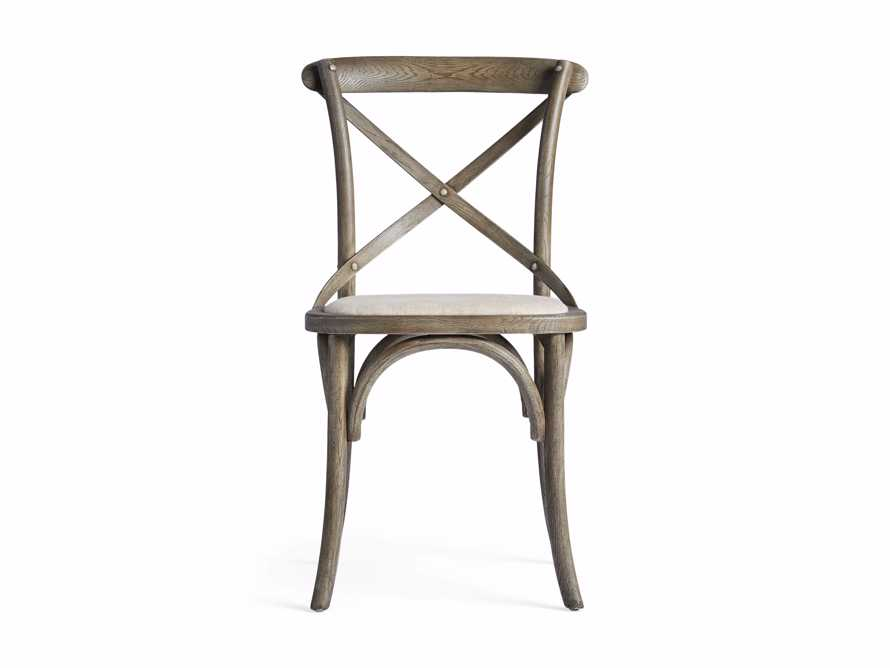 "Cadence 20"" Dining Side Chair with Linen Seat in Stone Vintage, slide 8 of 9"