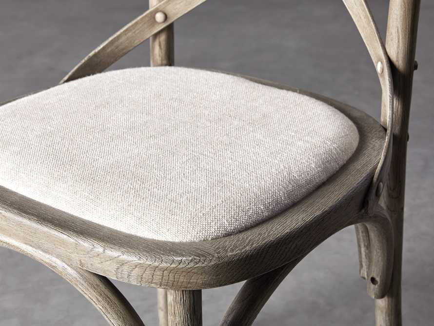 Cadence Counter Stool with Linen Seat in Stone Vintage, slide 6 of 8
