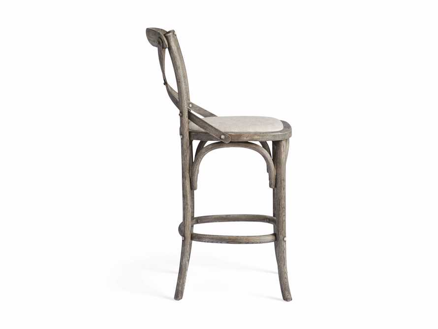 Cadence Counter Stool with Linen Seat in Stone Vintage, slide 8 of 8