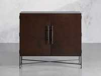 """Cahlo 50"""" Bar Cabinet in Chocolate Copper"""