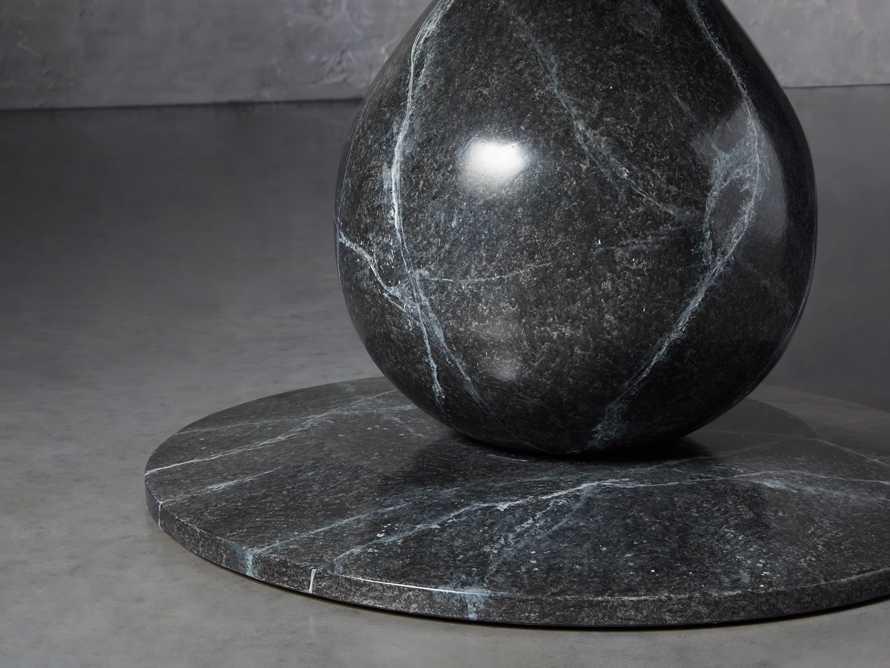 "Castello 48"" Round Bell'Arte Dining Table in Marmo Grey Bardiglio"