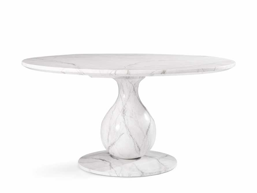 "Castello 48"" Round Bell'Arte Dining Table in Marmo Bianco"