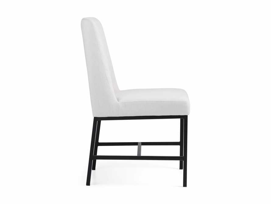 "Cava 20"" Dining Side Chair with Black Base in Sunday Stone, slide 9 of 9"