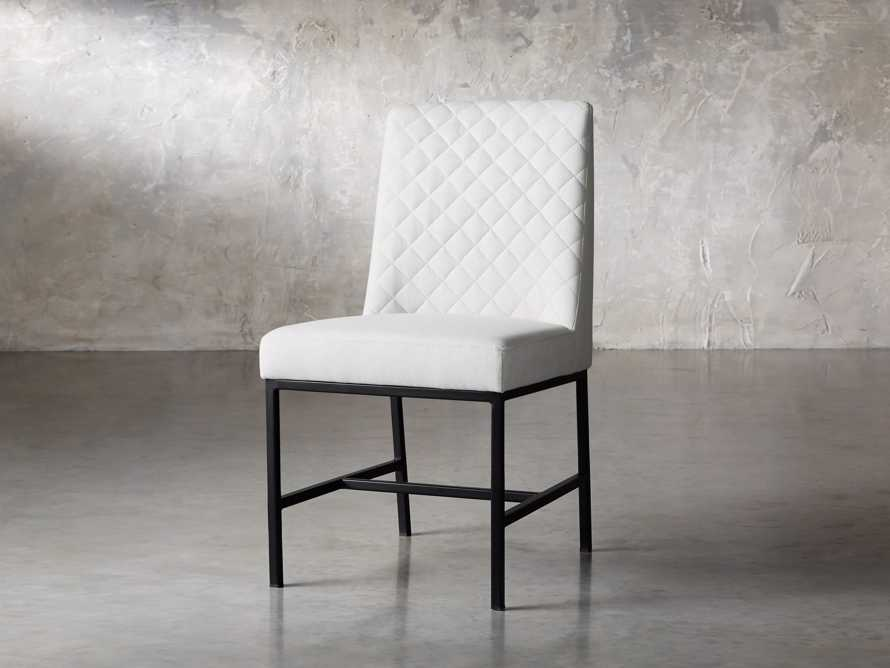 "Cava 20"" Dining Side Chair with Black Base in Sunday Stone, slide 3 of 9"