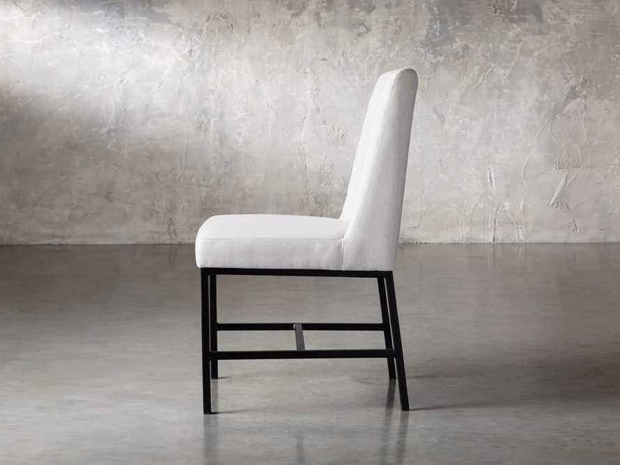 "Cava 20"" Dining Side Chair with Black Base in Sunday Stone, slide 4 of 9"