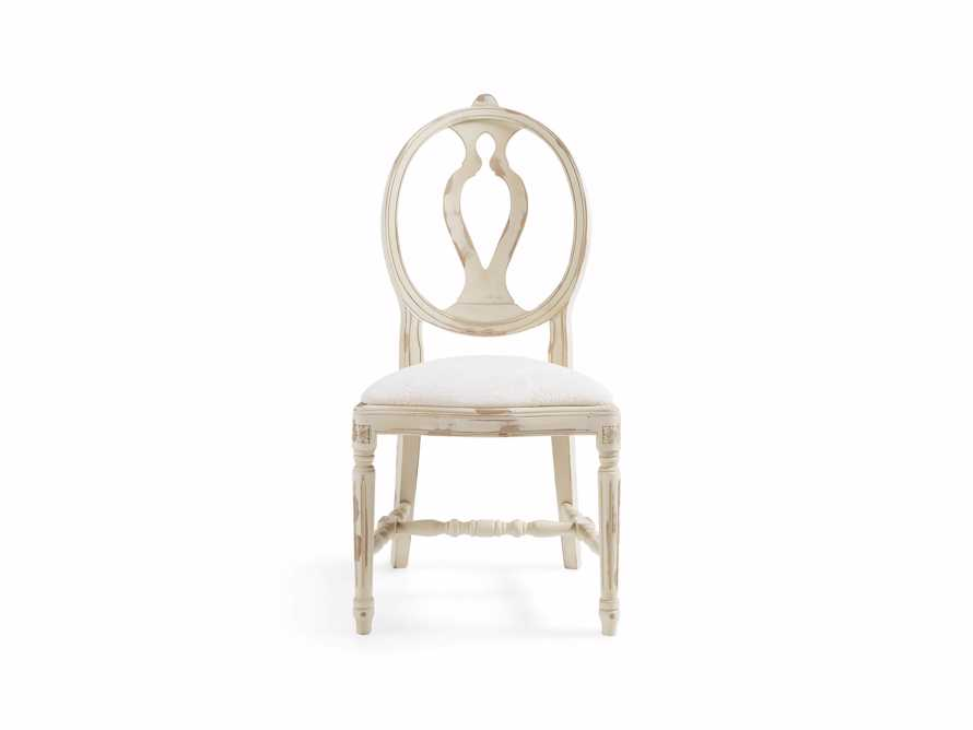 "Cecilia 20"" Dining Side Chair With Upholstered Seat In Gustavian Cream - Come take a peek at more Arhaus French Vintage Timeless Furniture, Decor and Lighting on Hello Lovely Studio."