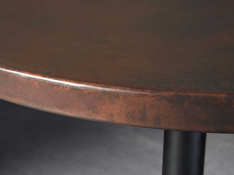 "Chocolate Copper 36"" Bar Table with Wade Black Base, slide 2 of 5"