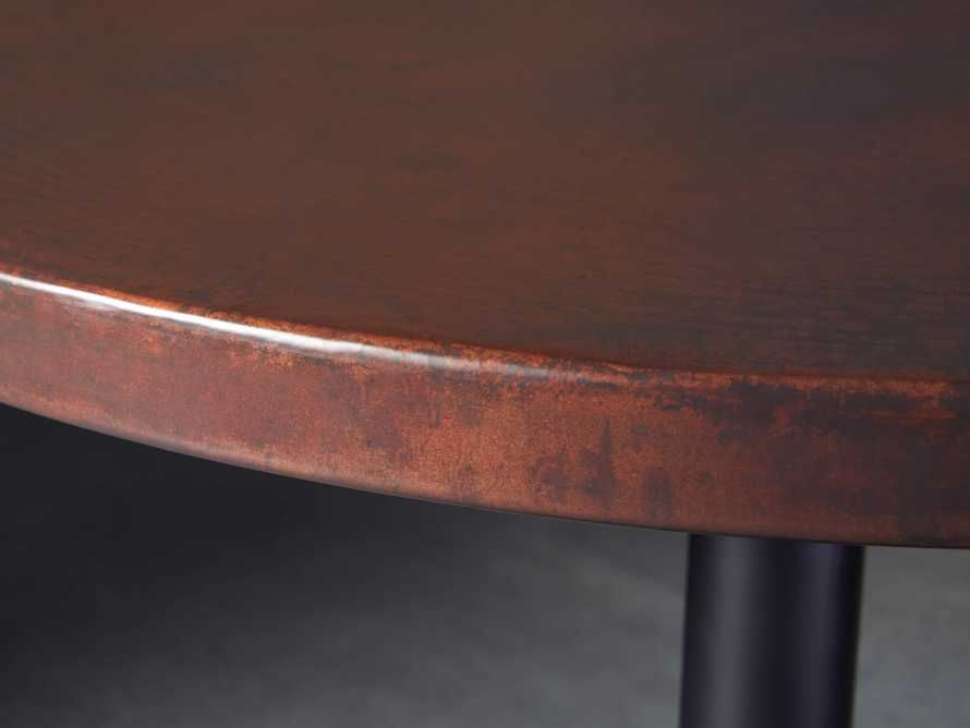 "Chocolate Copper 36"" Counter Table with Wade Black Base, slide 3 of 5"