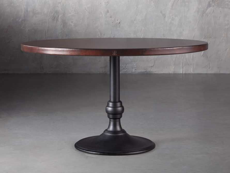 "Chocolate Copper 48"" Dining Table with Wade Black Base, slide 1 of 3"