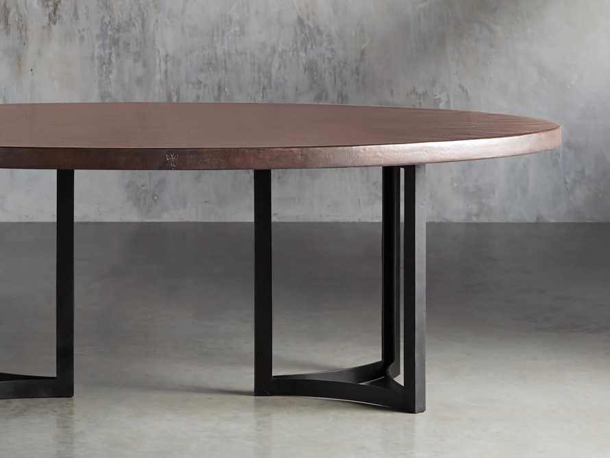 "Chocolate Copper 90"" x 52"" Table with Lyon Base in Black, slide 1 of 7"