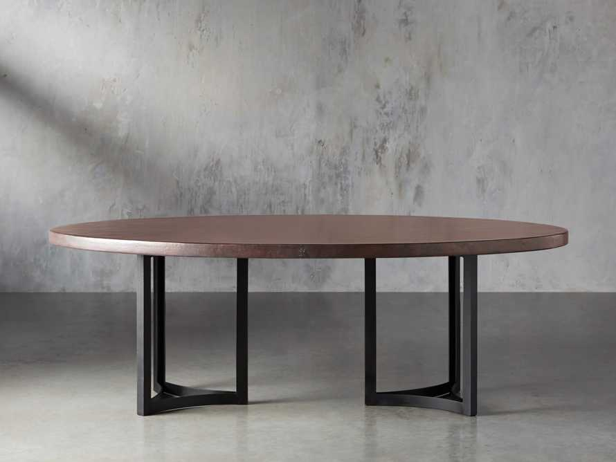 "Chocolate Copper 90"" x 52"" Table with Lyon Base in Black"