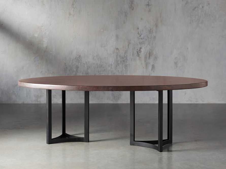 "Chocolate Copper 90"" x 52"" Table with Lyon Base in Black, slide 3 of 7"