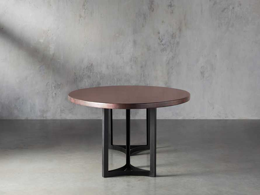 """Chocolate Copper 90"""" x 52"""" Table with Lyon Base in Black"""
