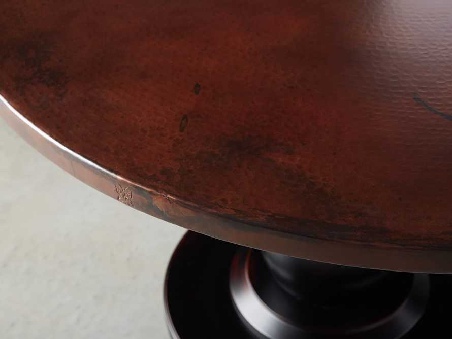"Chocolate Copper 54"" Round Table Top With Trieste Table Base, slide 2 of 3"