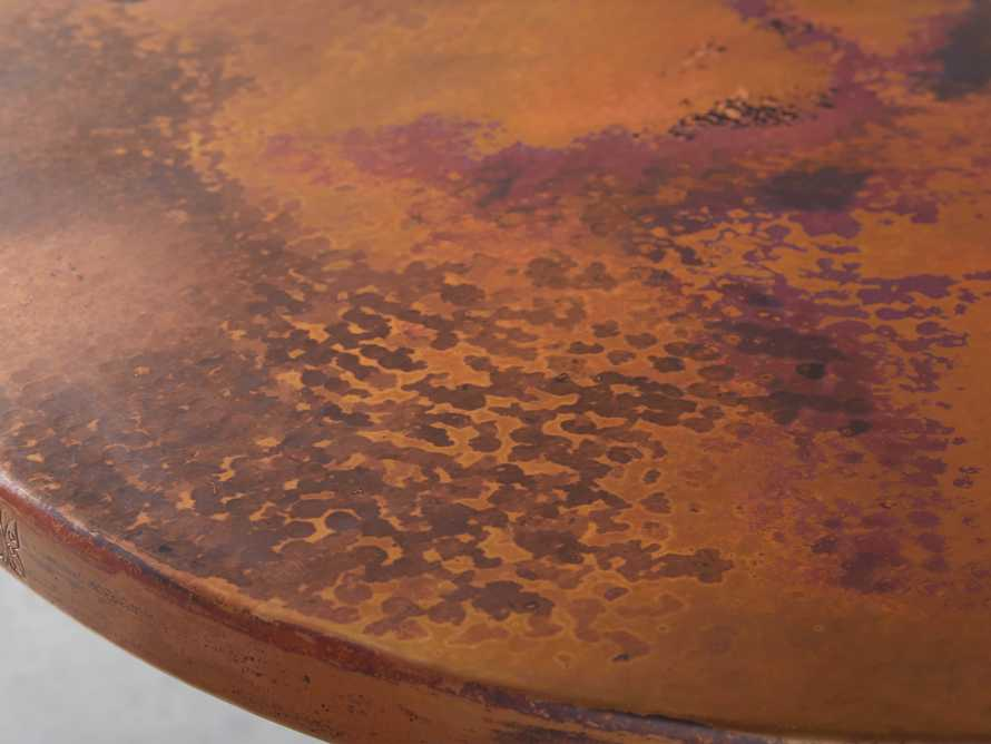 """Copper 38"""" Counter Table with Wade Base, slide 2 of 3"""