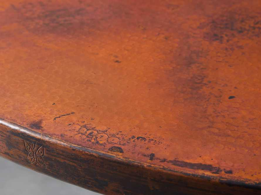 """Wade 48"""" Copper Round Dining Table, slide 3 of 7"""