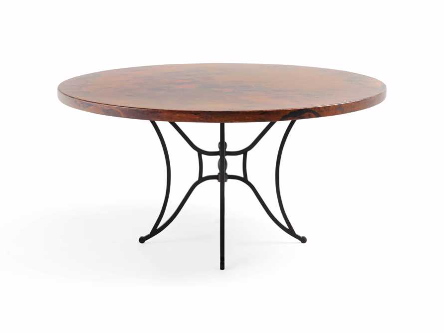 "Copper 60"" Round Table Top With Kenya Dining Base, slide 2 of 4"