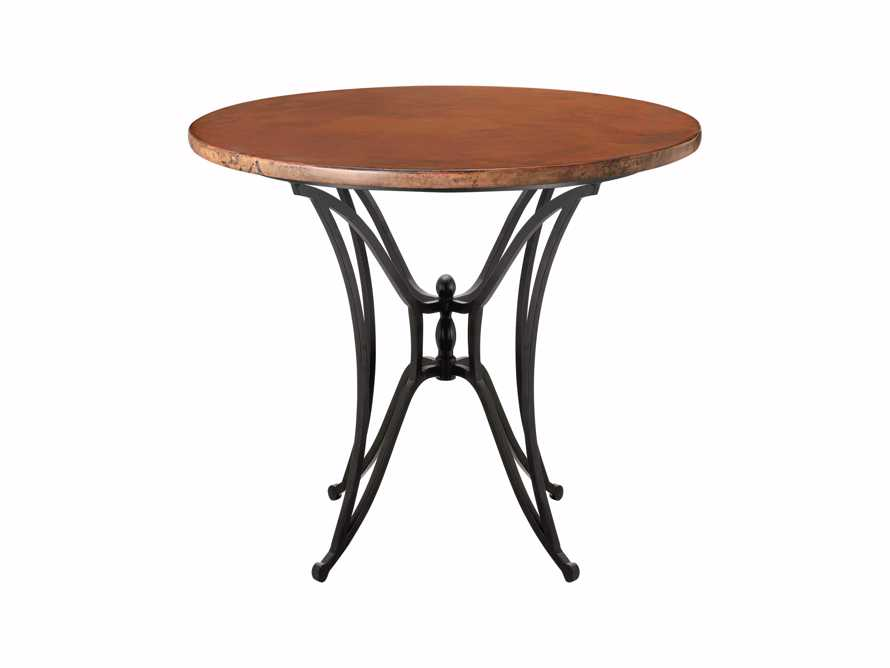 "Copper 38"" Round Table Top With Kenya Bar Base"