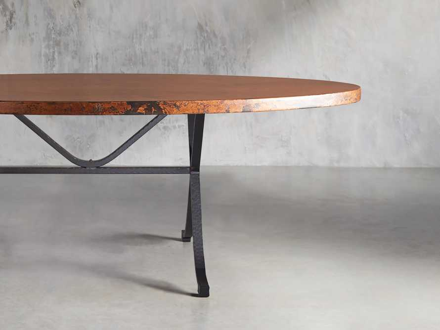 "Copper 52"" X 90"" Oval Dining Table with Arvada Base"