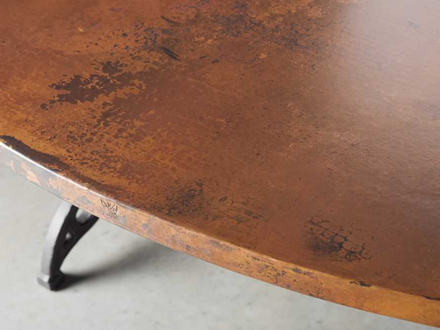 "Copper 44"" X 77"" Oval Dining Table With Chantel Base"
