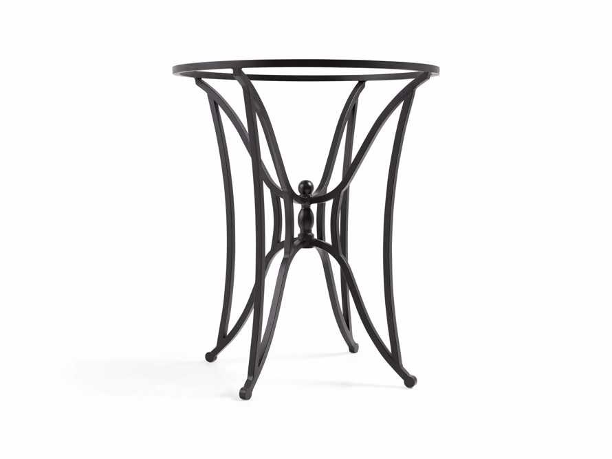 Kenya Iron Counter Table Base In Distressed Black