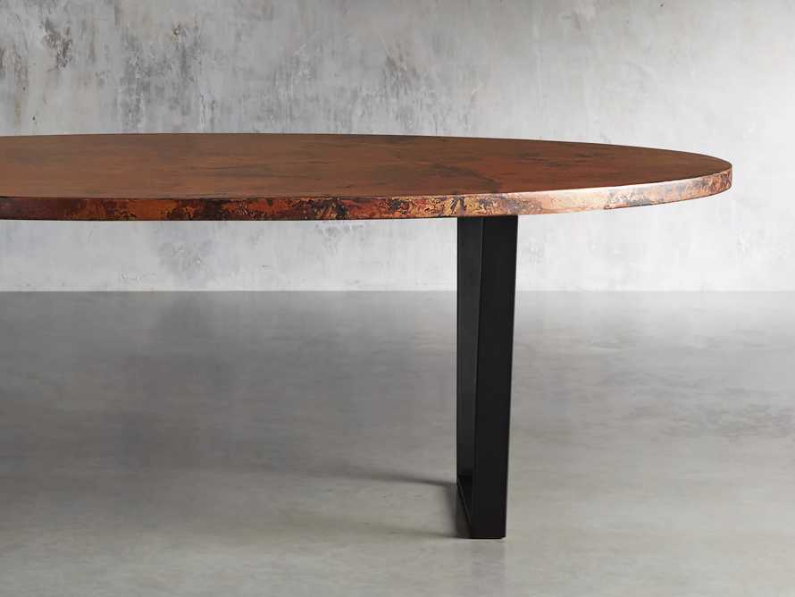 "Copper 77"" x 44"" Dining Table with Hardyn Base in Black, slide 2 of 8"