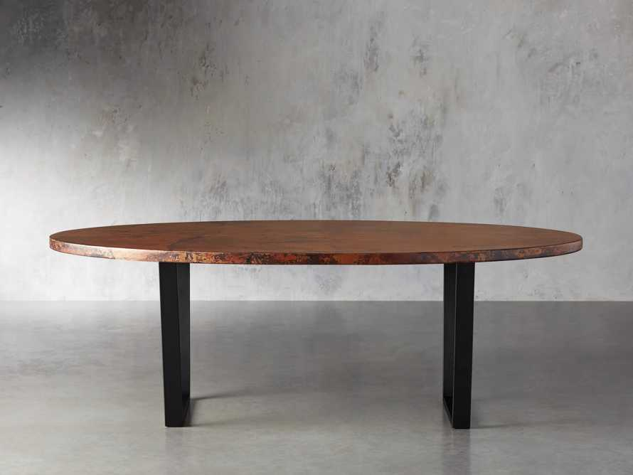 "Copper 77"" x 44"" Dining Table with Hardyn Base in Black, slide 3 of 8"