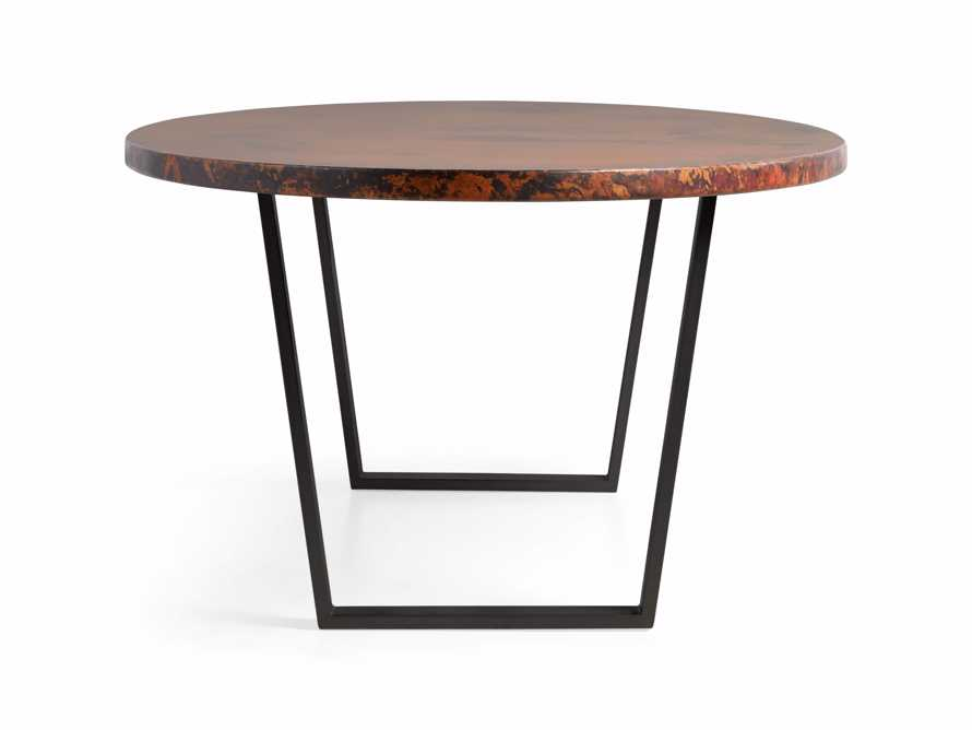 "Copper 77"" x 44"" Dining Table with Hardyn Base in Black, slide 8 of 8"