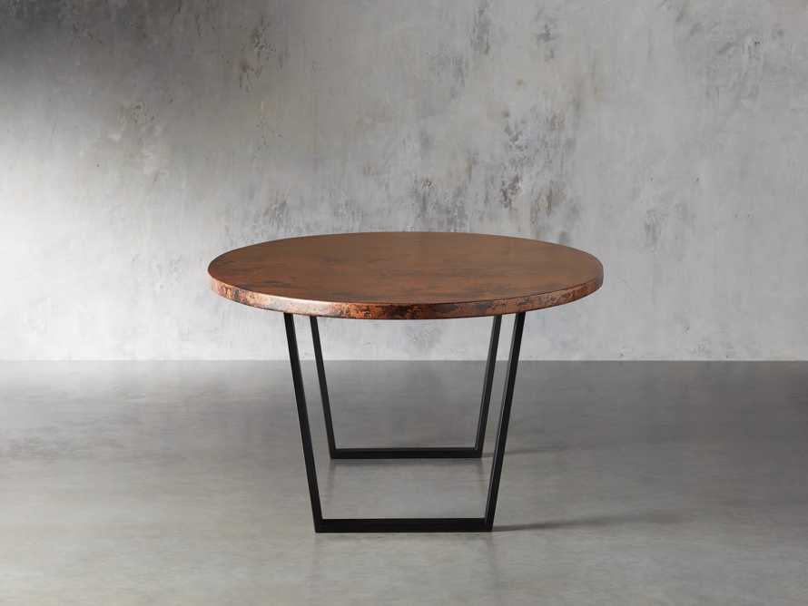 "Copper 77"" x 44"" Dining Table with Hardyn Base in Black, slide 5 of 8"