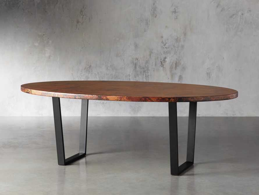 "Copper 77"" x 44"" Dining Table with Hardyn Base in Black, slide 4 of 8"