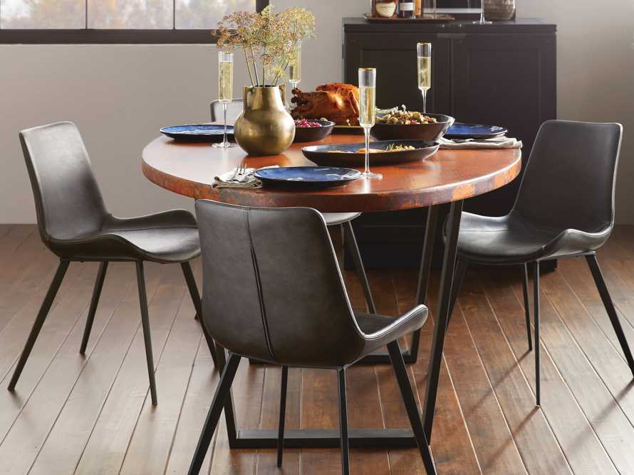 "Copper 77"" x 44"" Dining Table with Hardyn Base in Black, slide 1 of 8"