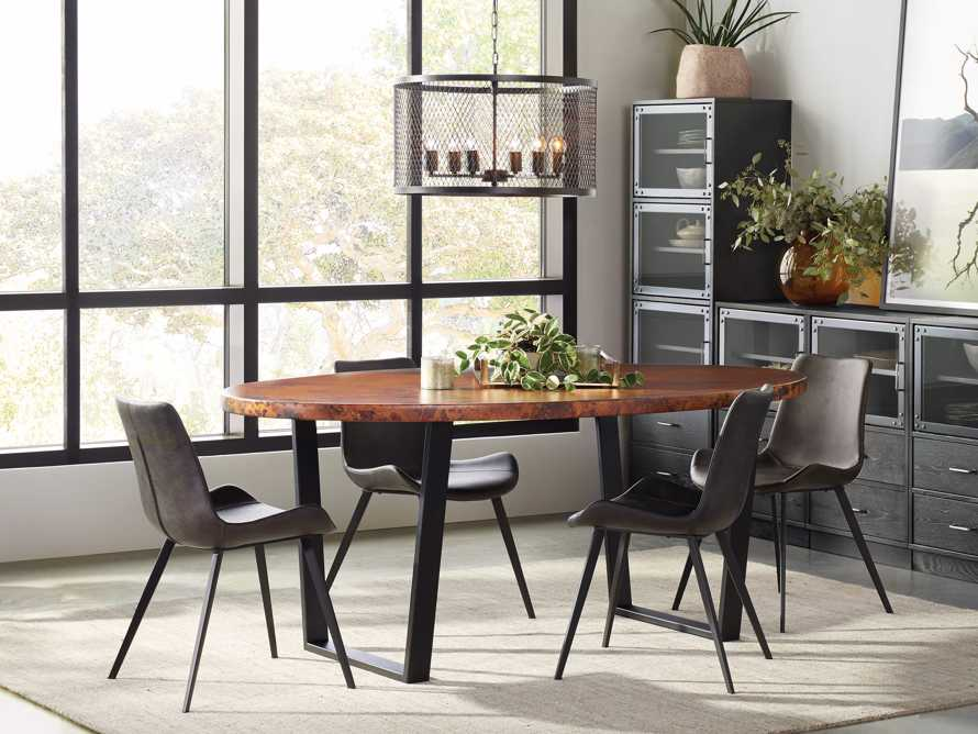 """Copper 77"""" x 44"""" Dining Table with Hardyn Base in Black, slide 1 of 9"""