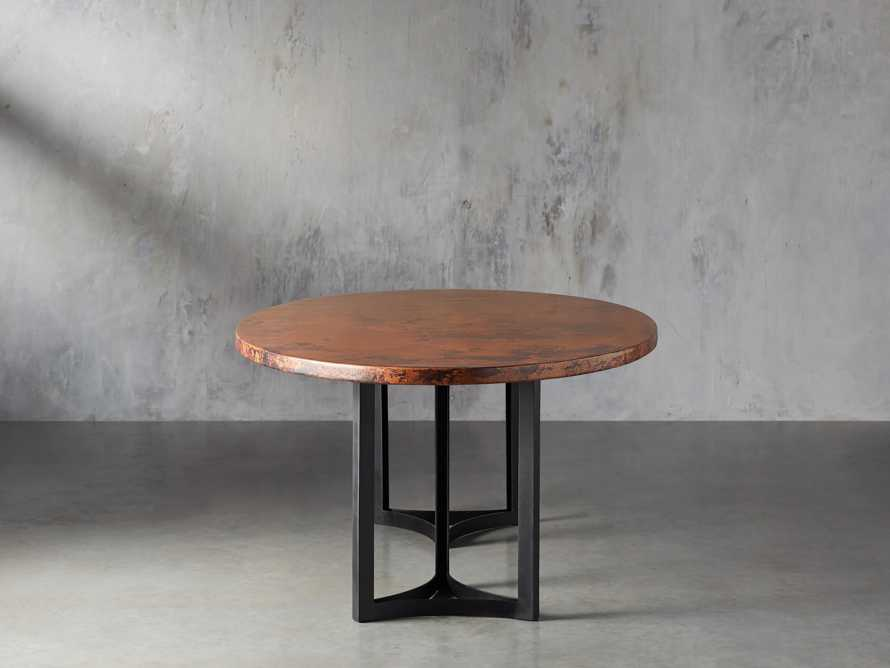 "77"" x 44"" Copper Table with Lyon Base in Black, slide 5 of 10"