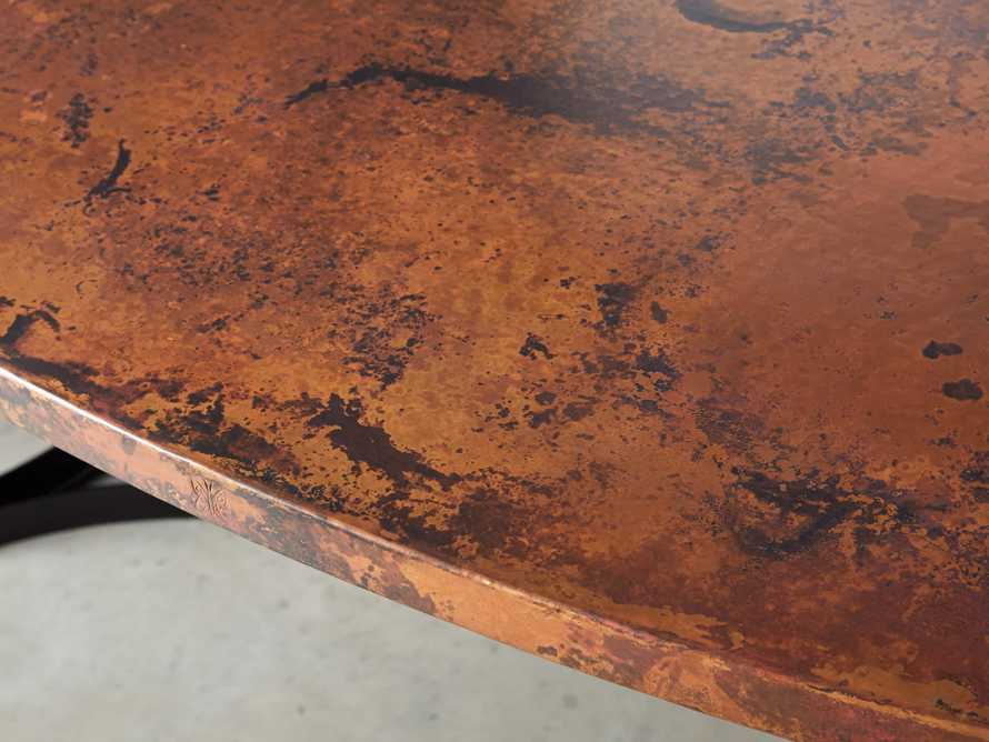 "77"" x 44"" Copper Table with Lyon Base in Black, slide 7 of 10"