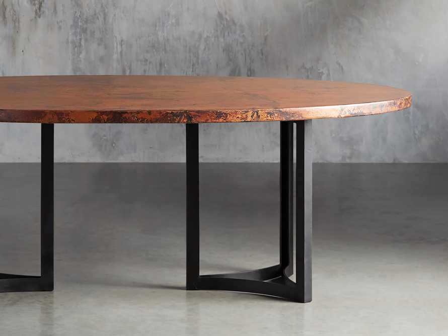 "77"" x 44"" Copper Table with Lyon Base in Black, slide 2 of 10"