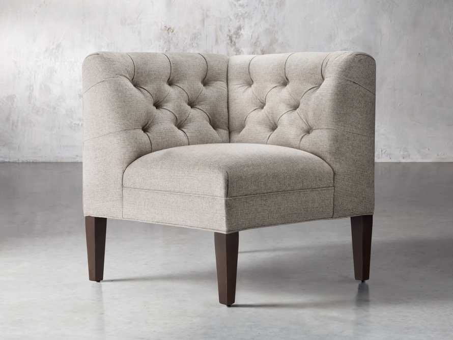 "Eaton Upholstered 32"" Tufted Corner, slide 2 of 5"