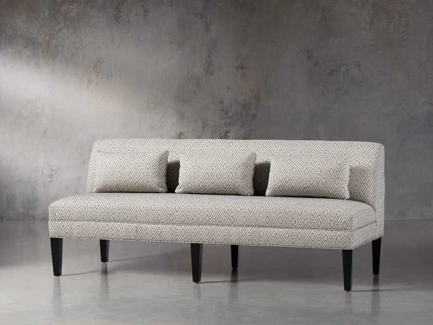 "Eaton Upholstered 80"" Non-Tufted Settee in Davos Night, slide 2 of 5"
